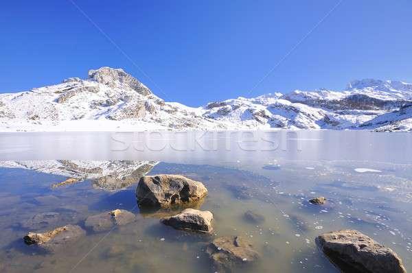 Ercina lake, Asturias,Spain. Stock photo © asturianu