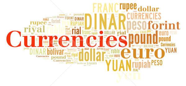 Word cloud related currencies. Stock photo © asturianu