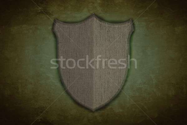 Grey secure shield on wall Stock photo © asturianu