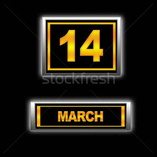 14 illusztráció naptár oktatás fekete terv Stock fotó © asturianu