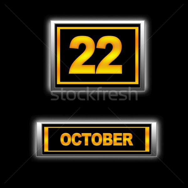 22 ilustração calendário educação preto agenda Foto stock © asturianu