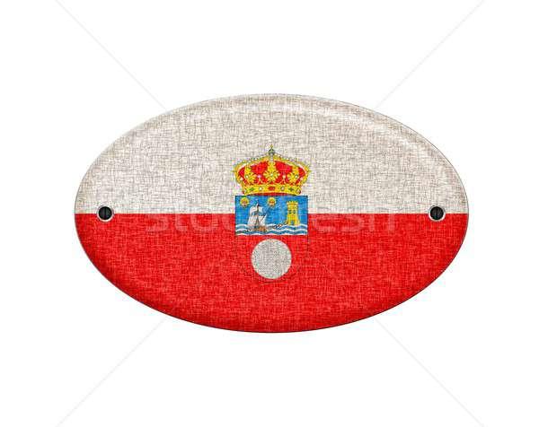 Wooden Cantabria flag. Stock photo © asturianu