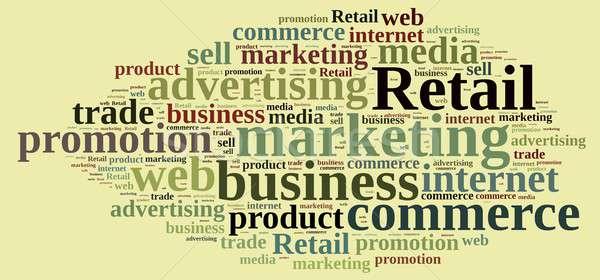 Nube de palabras palabra menor ilustración negocios comercialización Foto stock © asturianu