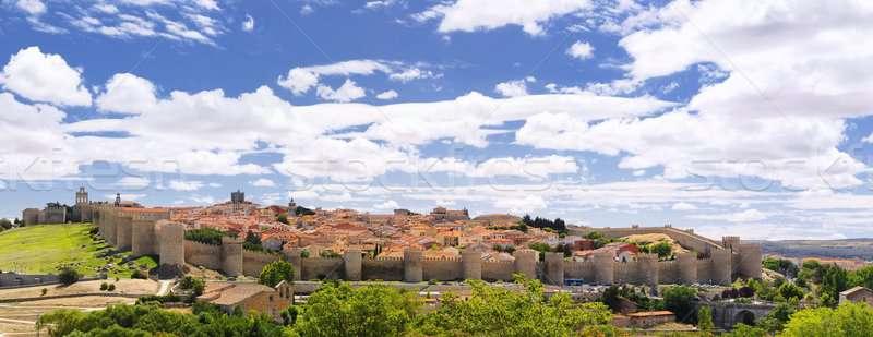 Walls of Avila. Stock photo © asturianu