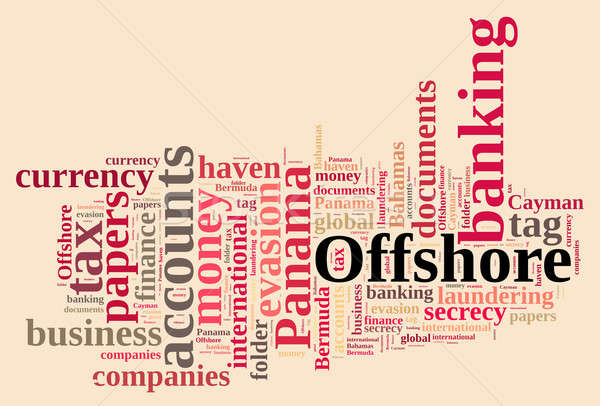 Word cloud on Offshore Companies. Stock photo © asturianu