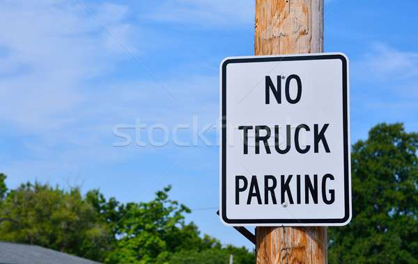 No truck parking sign. Stock photo © asturianu
