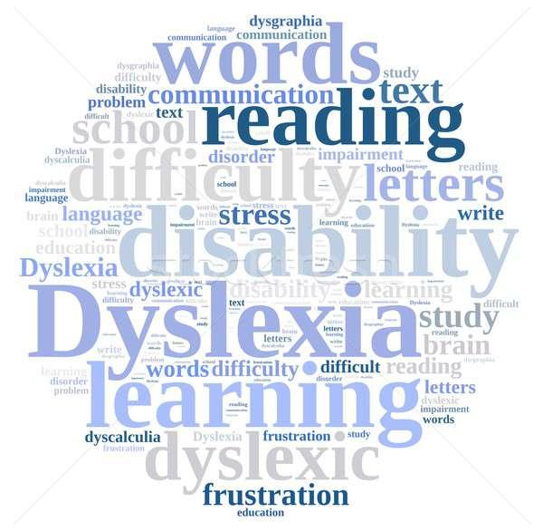 Word cloud about dyslexia Stock photo © asturianu