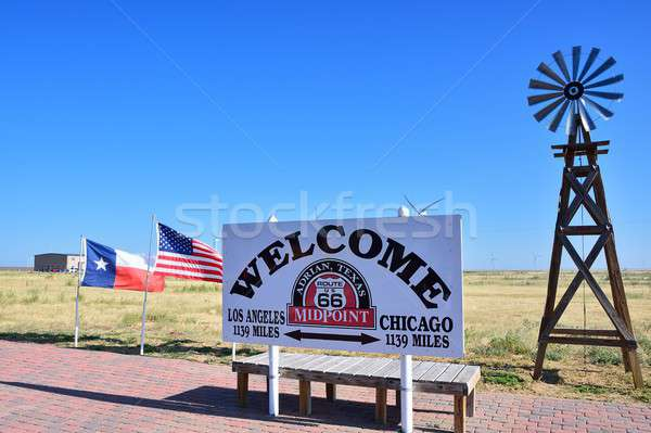 Historisch route 66 Chicago Los Angeles weg moeder Stockfoto © asturianu
