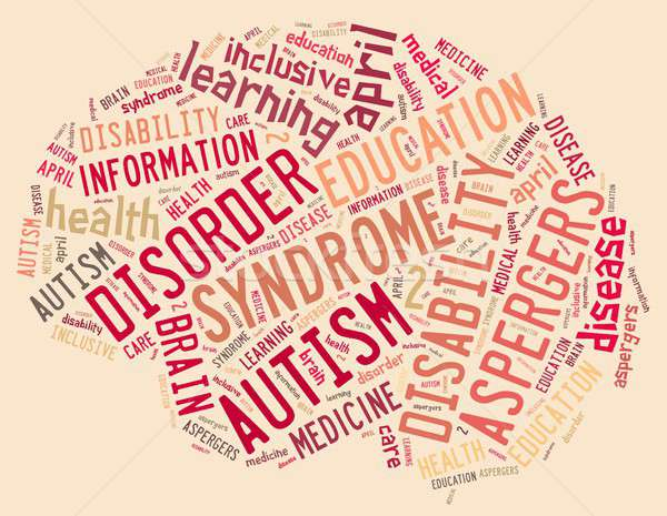 Autisme illustratie woordwolk ziekte kind achtergrond Stockfoto © asturianu
