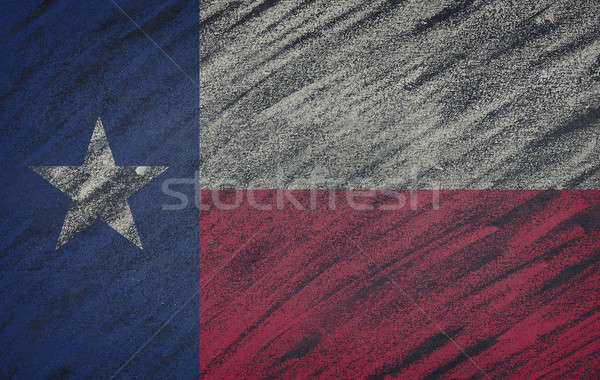 Texas flag painted with colored chalk on a blackboard.  Stock photo © asturianu