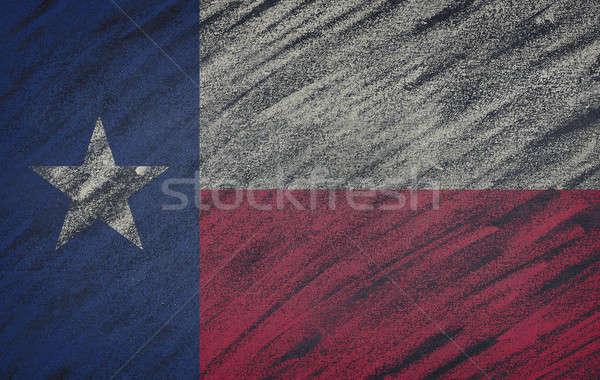 Texas vlag geschilderd gekleurd krijt Blackboard Stockfoto © asturianu