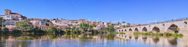 Panoramic view of Zamora in Spain. Stock photo © asturianu