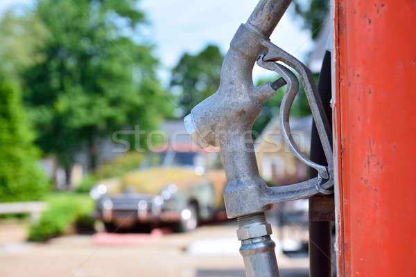 Old rusty american gas pump. Stock photo © asturianu