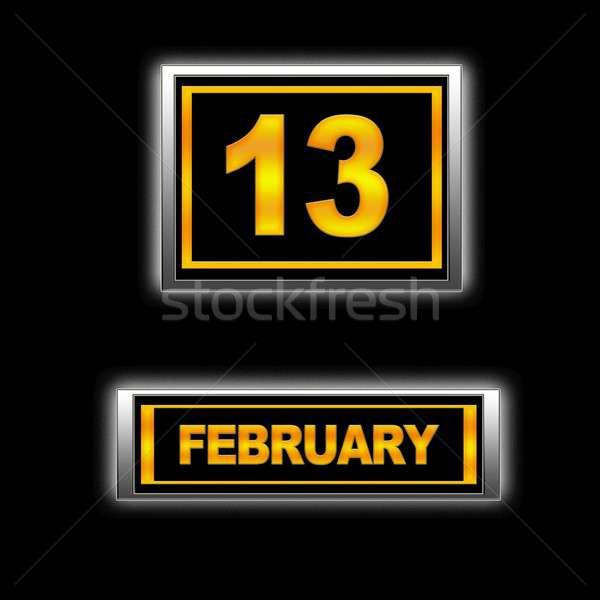 13 illusztráció naptár oktatás fekete ünnep Stock fotó © asturianu