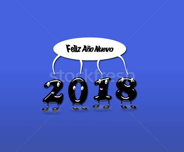 Animated numerals of 2018 year congratulating with new year Stock photo © asturianu