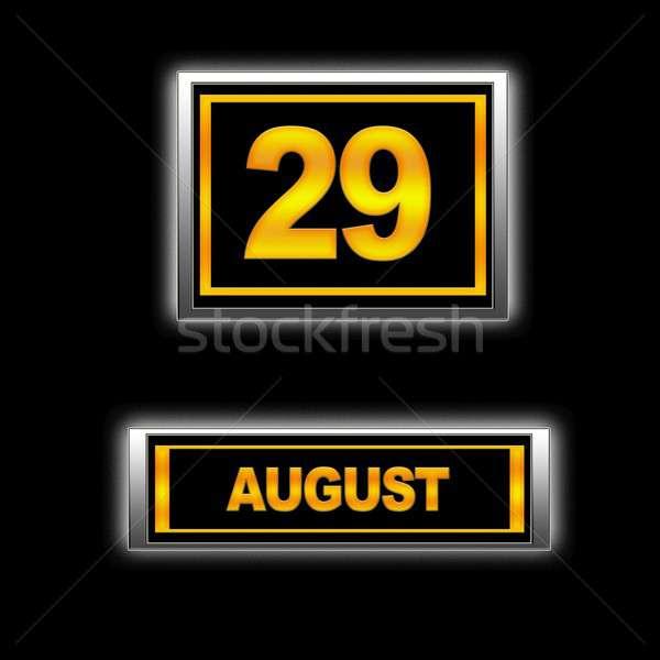 август иллюстрация календаря образование черный повестки Сток-фото © asturianu