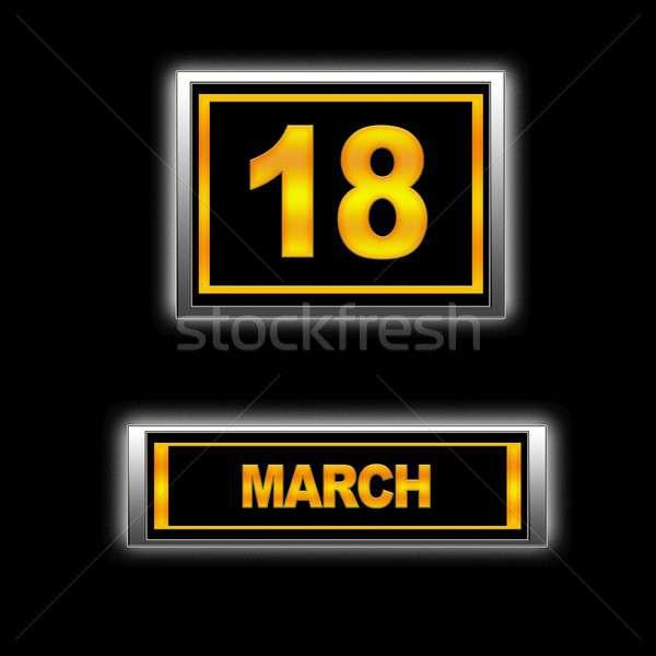 18 実例 カレンダー 教育 黒 計画 ストックフォト © asturianu