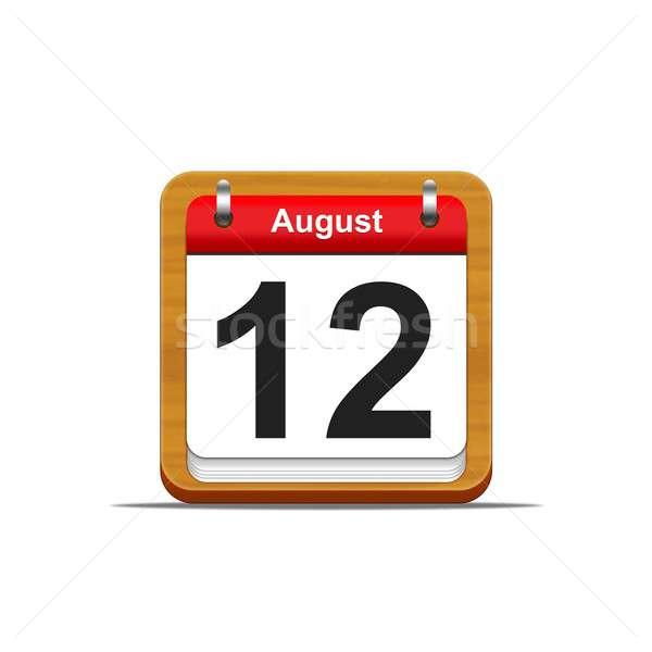 Agosto 12 ilustración elegante calendario Foto stock © asturianu