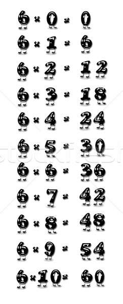 Multiplicación mesa seis ilustración escuela funny Foto stock © asturianu