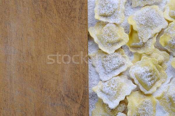 Fresco ravioli jantar refeição Foto stock © asturianu