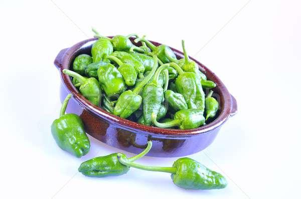 Typisch groene paprika galicië Spanje gezondheid Stockfoto © asturianu