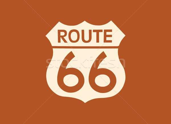 Reizen USA teken route 66 label amerikaanse Stockfoto © asturianu
