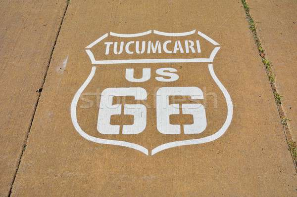 Route 66 sign in Tucumcari, New Mexico. Stock photo © asturianu