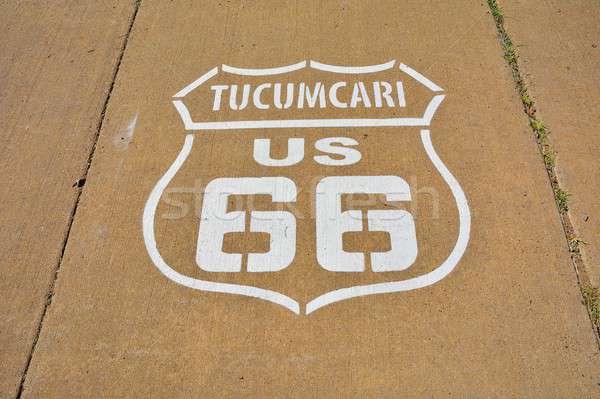 Route 66 знак Нью-Мексико окрашенный дороги матери Сток-фото © asturianu