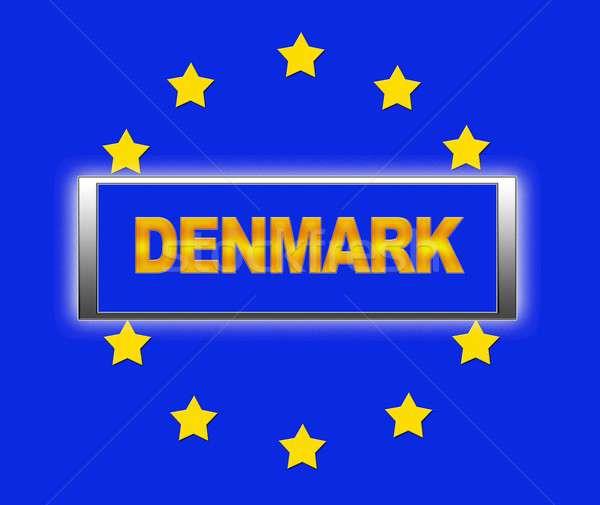 Dinamarca palavra bandeira europa assinar estrela Foto stock © asturianu