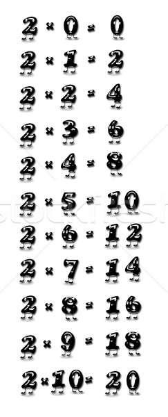 Multiplicación mesa dos ilustración escuela funny Foto stock © asturianu