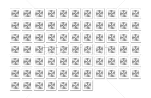 金属 周期表 実例 孤立した ボタン 学校 ストックフォト © asturianu