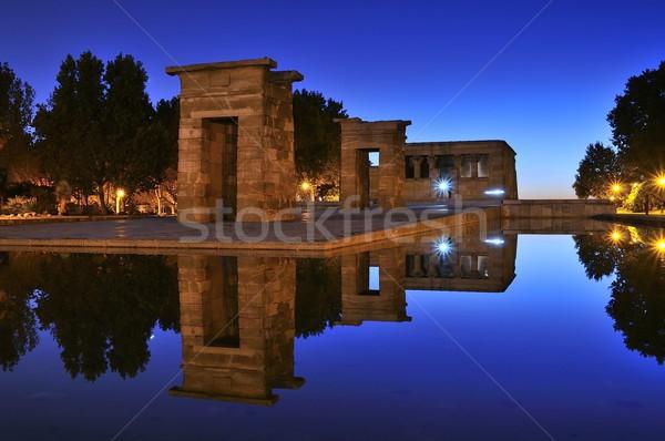 świątyni Madryt Egipt niebo miasta noc Zdjęcia stock © asturianu