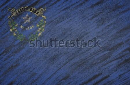 Nevada bayrak boyalı renkli tebeşir tahta Stok fotoğraf © asturianu