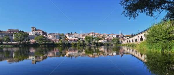 Panoramic view of Zamora in Spain. Stock photo © asturianu