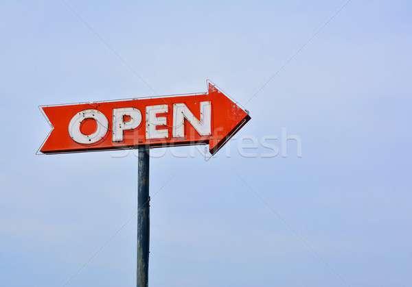 Open neon sign. Stock photo © asturianu