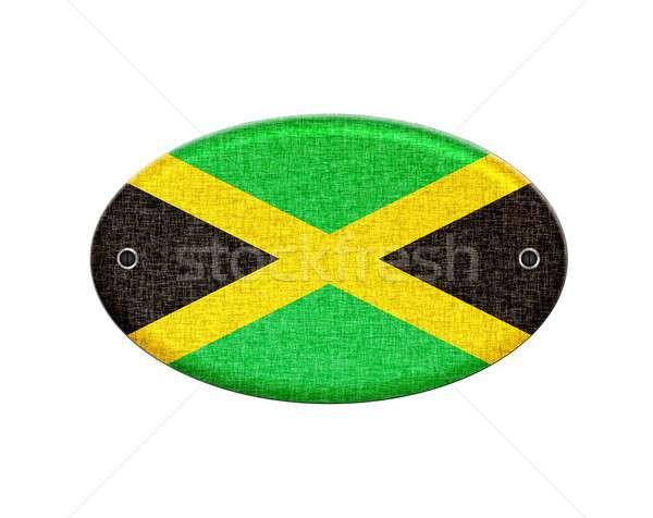 Jamaika örnek dizayn imzalamak ülke Stok fotoğraf © asturianu