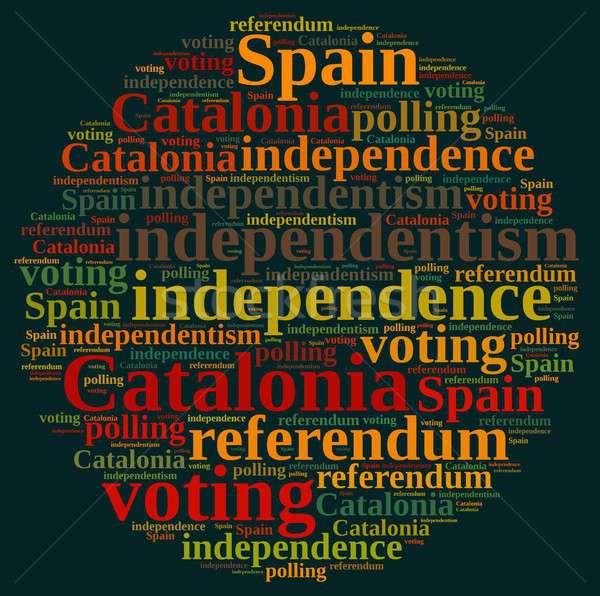 референдум Испания иллюстрация слово облако Европа стране Сток-фото © asturianu