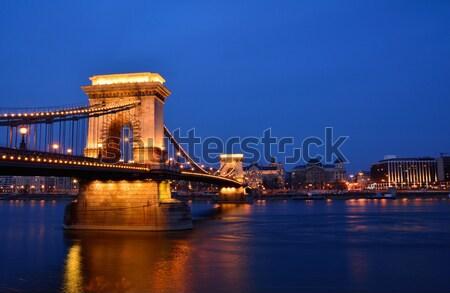 Photo stock: Chaîne · pont · danube · rivière · Budapest · Hongrie