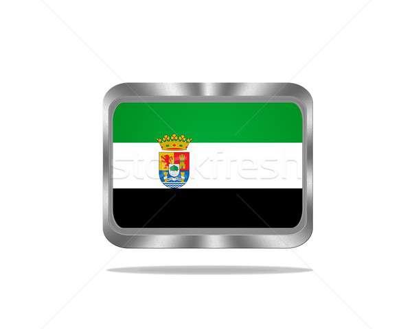 Metal Extremadura flag. Stock photo © asturianu
