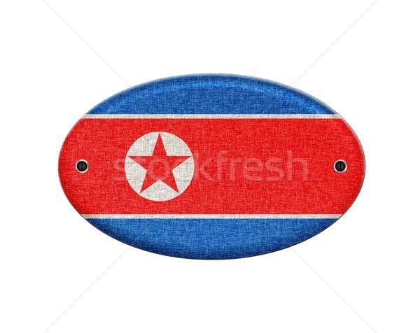 Wooden sign of North Korea. Stock photo © asturianu