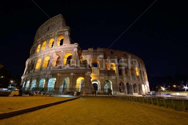 Colosseo notte view costruzione città Foto d'archivio © asturianu