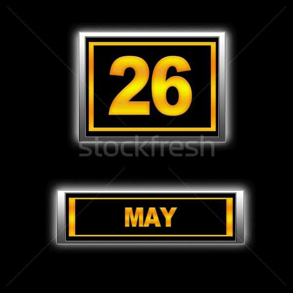 26 ilustração calendário educação preto férias Foto stock © asturianu