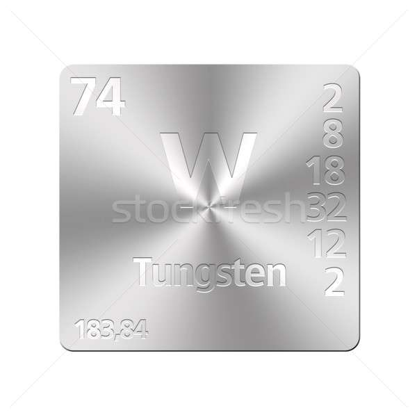 タングステン 孤立した 金属 ボタン 周期表 教育 ストックフォト © asturianu