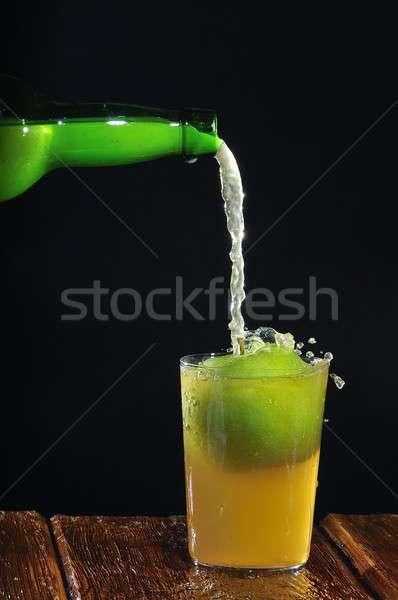 Jabłecznik tle bar butelki czarny rolnictwa Zdjęcia stock © asturianu