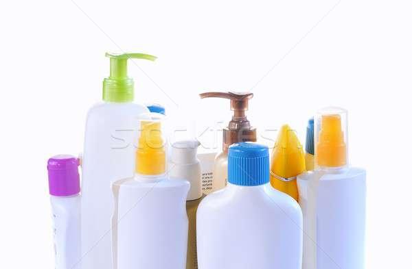 Personal care bottles isolated on white background. Stock photo © asturianu