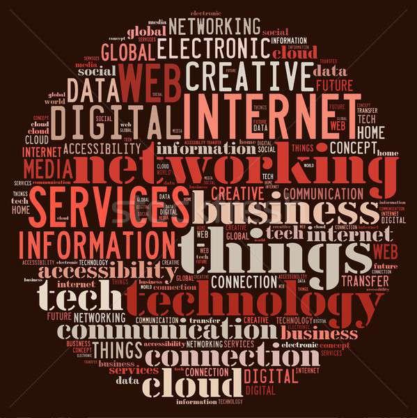 Internet coisas ilustração nuvem da palavra computador casa Foto stock © asturianu
