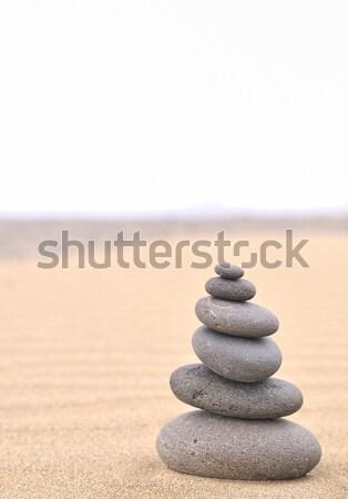 Foto stock: Quente · pedra · terapia · massagem · saúde · relaxar