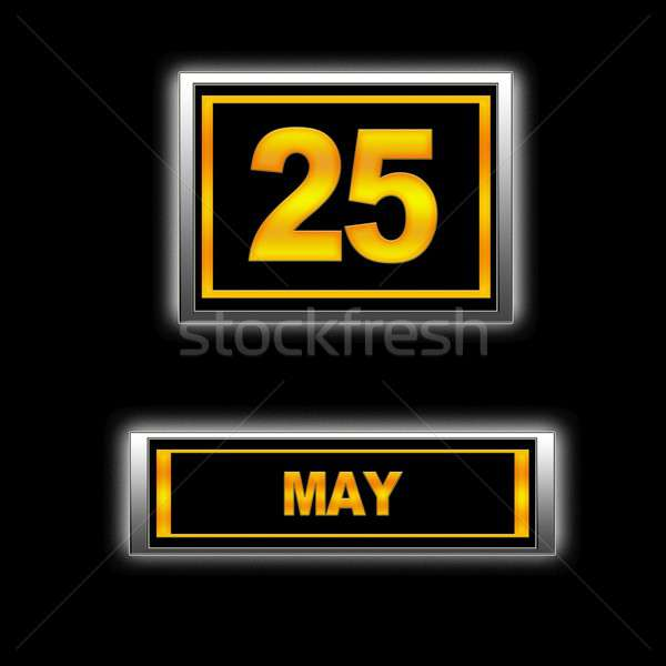 25 ilustración calendario educación negro vacaciones Foto stock © asturianu
