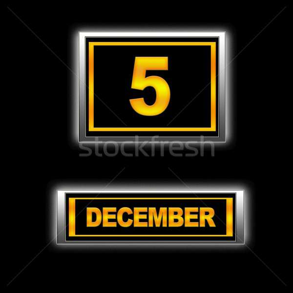 декабрь иллюстрация календаря образование черный повестки Сток-фото © asturianu