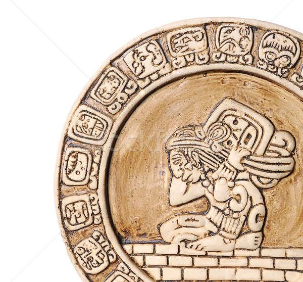 Kalendarza kultury Meksyk symbol białe tło cywilizacja Zdjęcia stock © asturianu
